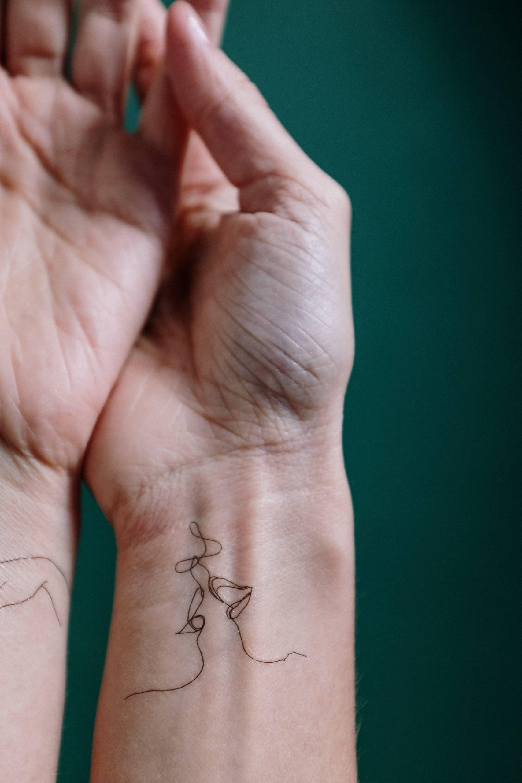 Woman's wrists