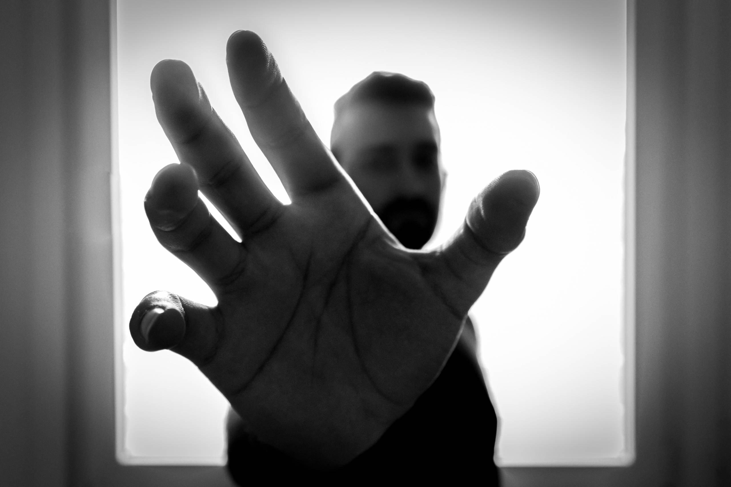 man with trigger finger